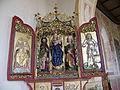St Bartholomäus, Zell bei Oberstaufen, linker Seitenaltar, Altarschrein und Flügel.jpg