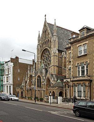 Holland Road, London - St John the Baptist Church on Holland Road.