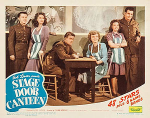 Sunset Carson - Lon McCallister, Marjorie Riordan, William Terry, Cheryl Walker, Margaret Early and Michael Harrison in Stage Door Canteen (1943)