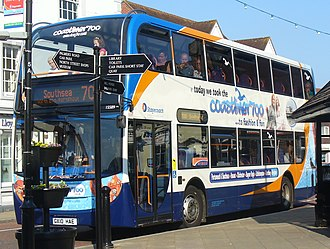 Stagecoach South - Coastliner 700 branded Alexander Dennis Enviro 400 bodied Scania N230UD in Emsworth in July 2011