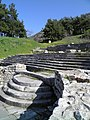 Staircase leading to the early christian Basilica A, Philippi (7272429640).jpg