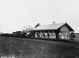 Southern railway line - Clifton railway station in 1897