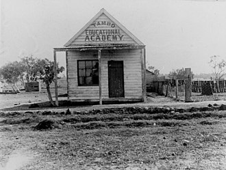Tambo, Queensland - Image: State Lib Qld 1 159146 Educational Academy at Tambo, 1905