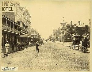 George Street, Brisbane - George Street in 1889.