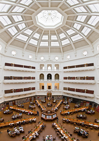 File:State Library of Victoria La Trobe Reading room 5th floor view.jpg