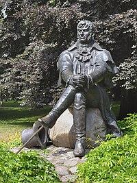 Statue of Jean Georg Haffner in Sopot.jpg