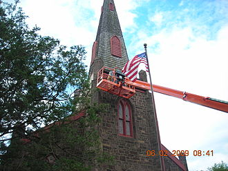 St. Stephen's Episcopal Church (Beverly, New Jersey) - Steeple Work at St. Stephen's
