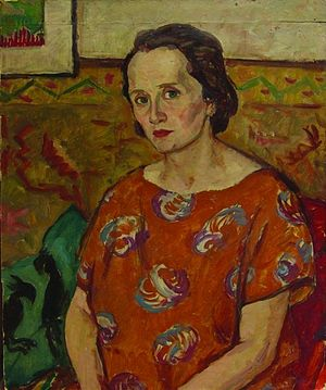 Nicolae Tonitza - Ecaterina Tonitza, painter's wife, portrait by Ştefan Dimitrescu
