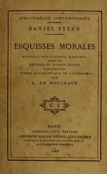 File:Stern - Esquisses morales, 1880.djvu