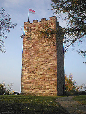 The water tower of Sternenfels on the Schlossberg on the site of the former castle