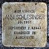Stolperstein Bölschestr 39 (Frihg) Anni Schlesinger.jpg
