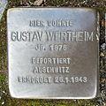 Stolperstein Bad Bentheim Schlossstraße 15 Gustav Wertheim.JPG