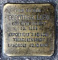 Stolperstein Danziger Str 28 (Prenz) Dorothea Loew.jpg