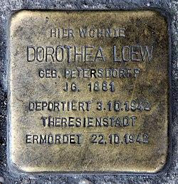 Photo of Dorothea Loew brass plaque