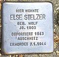 Stolperstein Else Stelzer, Frankfurt am Main, vor Finkenhofstr. 23.jpg