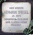 Stolperstein Helmstedter Str 19 (Wilmd) Hermann Spiegel.jpg