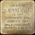 Stolperstein Köln, Dr. Albert Kramer (Vogelsanger Straße 1).jpg