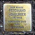 Stolperstein Karlsruhe Ferdinand Homburger Karl-Friedrich-Str 20 (fcm).jpg