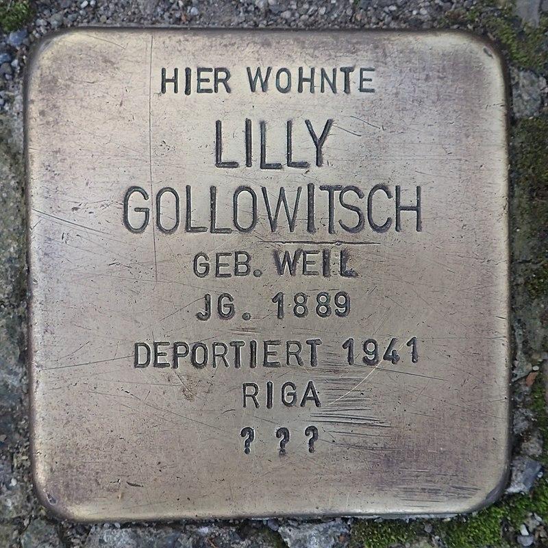 Stolperstein Leutkirch Marktstraße 27 Lilly Gollowitsch