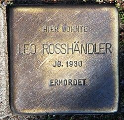 Photo of Leopold Rosshändler brass plaque
