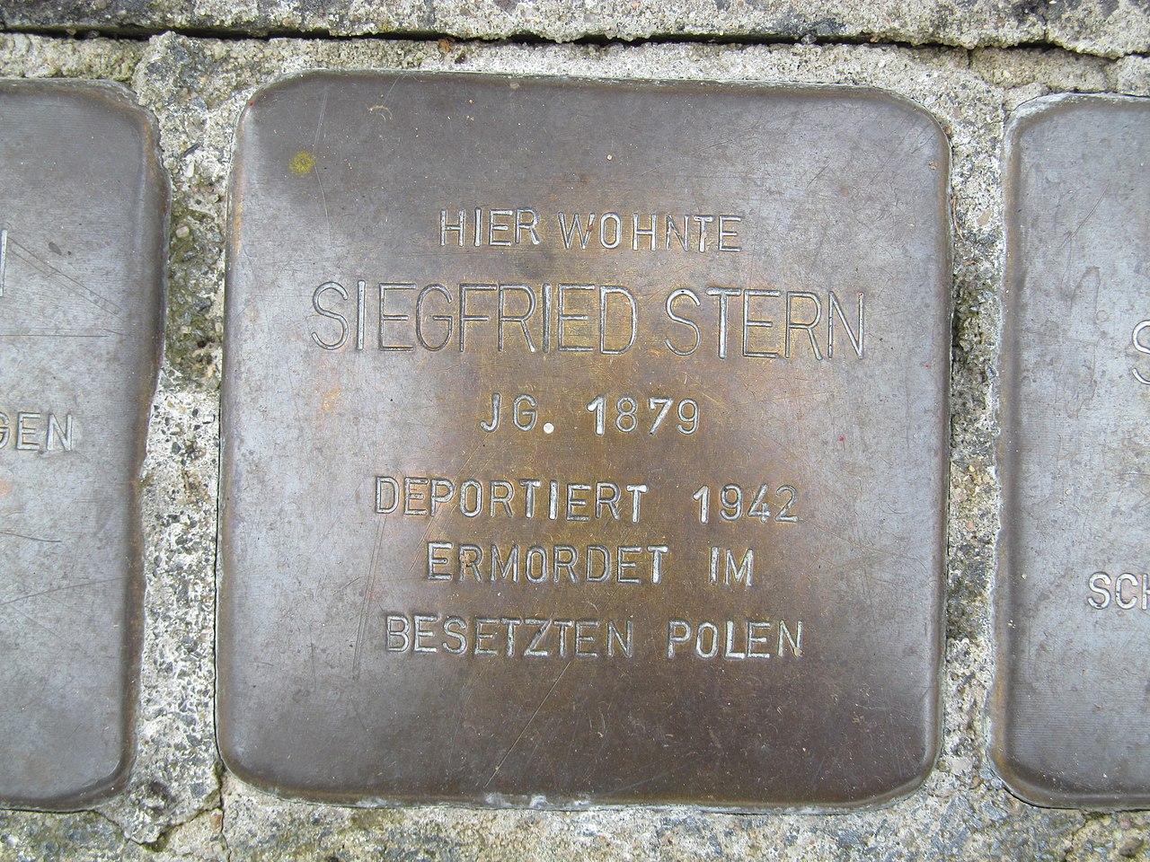 Stolperstein Siegfried Stern, 1, Lange Straße 2, Oberbrechen, Brechen, Landkreis Limburg-Weilburg.jpg
