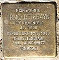 Stolperstein Stierstr 21 (Fried) Irmgard Krayn.jpg