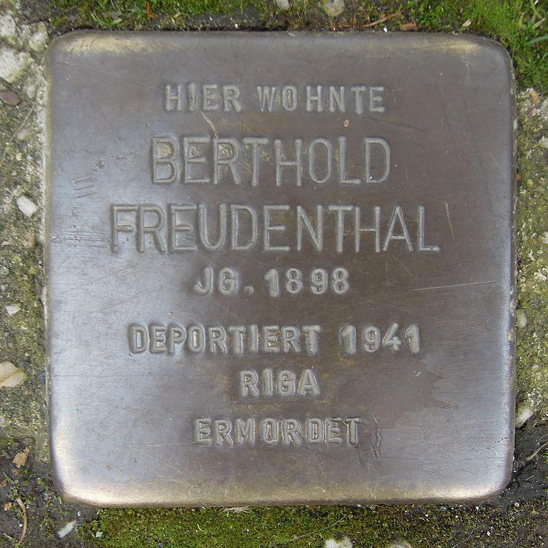 Stolperstein für Berthold Freudenthal