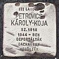 Stolperstein für Karoly-Koja Petrovics (Pecs).jpg