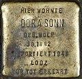 Stolpersteine Köln Dora Sonn Brüsseler Str 4.jpg
