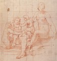 Study for a Virgin and Child with Two Angels (recto); Two Studies of Hands (verso) MET 1999.279a.jpg