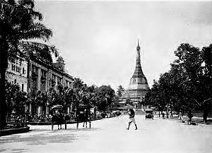 Sule Pagoda - Sule Pagoda in 1890s