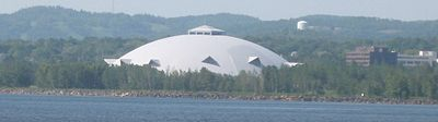 Superior Dome view from Lake Superior