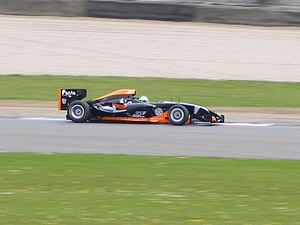 Superleague Formula - The Superleague Formula prototype car is demonstrated by Andy Soucek at Donington Park in July 2008