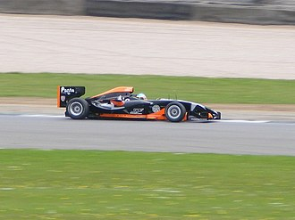 Andy Soucek - Soucek testing the Superleague Formula prototype car at Donington Park in 2008.