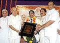 "Sushilkumar Shinde felicitated the Member Planning Commission, Dr. Bhalchandra Mungekar by ""Bhartratna Dr. Babasaheb Ambedkar Award"", at a function, organized by Marwadi Foundation, in Mumbai on February 11, 2009.jpg"