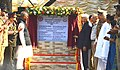 Sushilkumar Shinde inaugurating the Joint Retreat Ceremony of Border Security Force and the Border Guard Bangladesh at Petrapole-Benapole, 24 Parganas (North), West Bengal. The Home Minister of Bangladesh.jpg