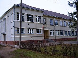 Svėdasai - Image: Svėdasai, gimnazija