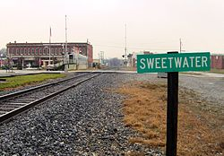 Railroad tracks in Sweetwater