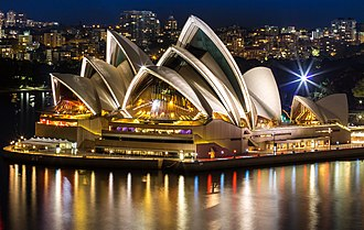Description de l'image Sydneyoperahouse at night.jpg.