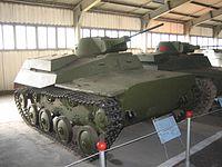 Un tanc t-40 al museu de tancs de kubinka