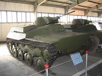T-40 - A T-40 in the Kubinka Tank Museum.