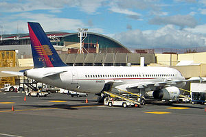 Avianca Costa Rica - A TACA/LACSA Airbus A320-233 at Juan Santamaría International Airport, Costa Rica. (2005)