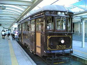 Toyohashi Railroad - Type 3700 tram of Azumada Main Line, active from 1927