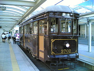 Toyohashi Railroad - Type 3700 tram of Azumada Main Line, active from 1927