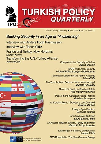 Turkish Policy Quarterly - Fall 2012 cover of Turkish Policy Quarterly