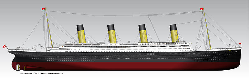 Titanic vue de profil