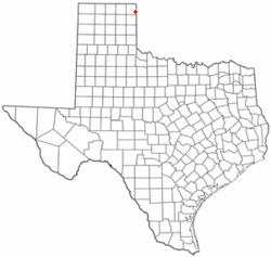 Location of Higgins, Texas