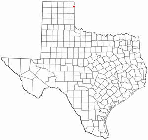 Higgins, Texas - Image: TX Map doton Higgins