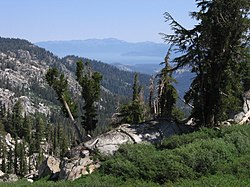 View of Lake Tahoe looking north from Tahoe Rim Trail