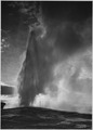 "Taken at dusk or dawn from various angles during eruption. ""Old Faithful Geyser, Yellowstone National Park,"" Wyoming. (v - NARA - 520012.tif"